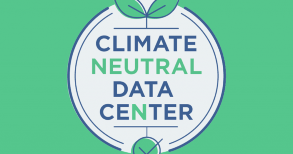 Consommation d'énergie data center : climate neutral data center logo